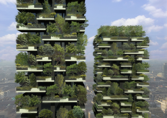 27 storey Bosco Verticale Milan by Stefano Boeri