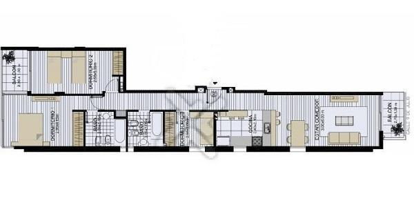 Departamento salchicha nueva tipolog a habitacional for Arquitectura arquitectura