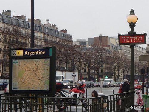 Estación L´Argentine en Metro de París