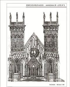 Plano orinal fachada Iglesia La Merced