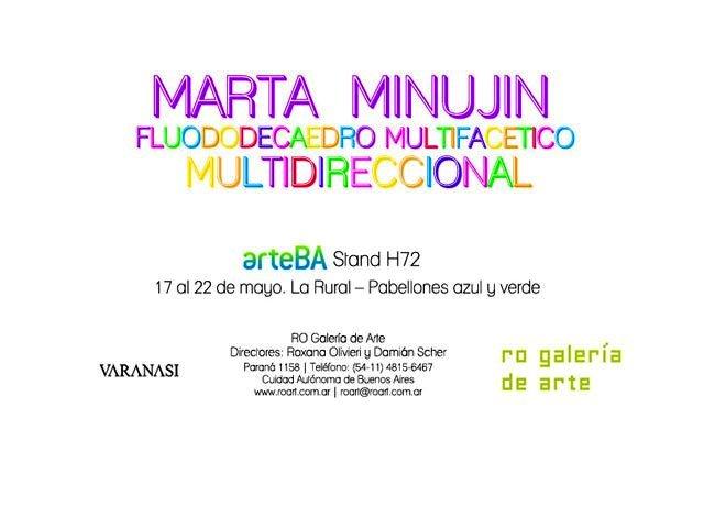 Marta Minujín en arteBA