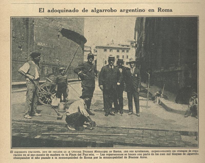 Adoquines argentinos para Roma