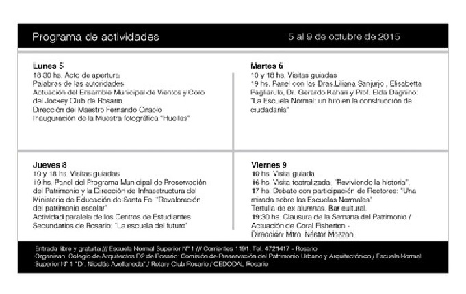 Semana del Patrimonio en Rosario 1
